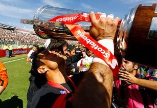 13 de Abril de 2014/SANTIAGO Colo Colo se titula campeon del campeonato de Clausura 2014 . Foto:OSVALDO VILLARROEL /AGENCIAUNO/AGENCIAUNO